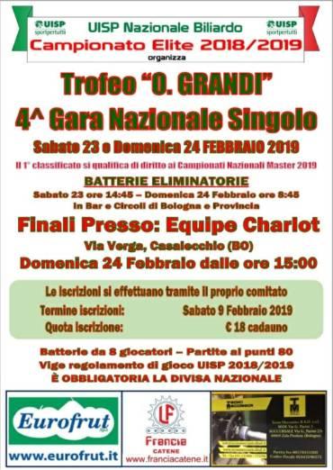 4 gara nazionale singolo – TROFEO O.GRANDI