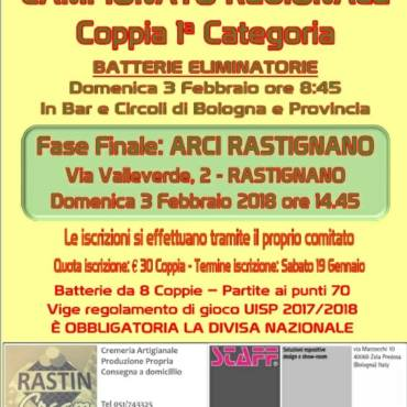 Campionato Regionale Coppia 1^ Categoria