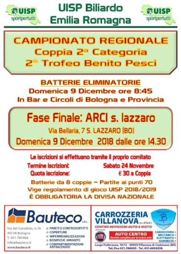 Campionato Regionale Coppia 2^ Categoria